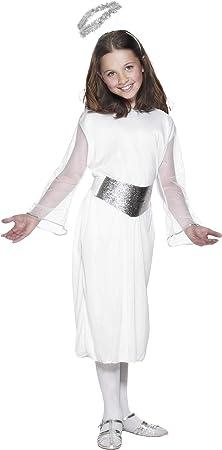 Smiffys-99340L Disfraz de ángel, con Vestido, cinturón y halo ...