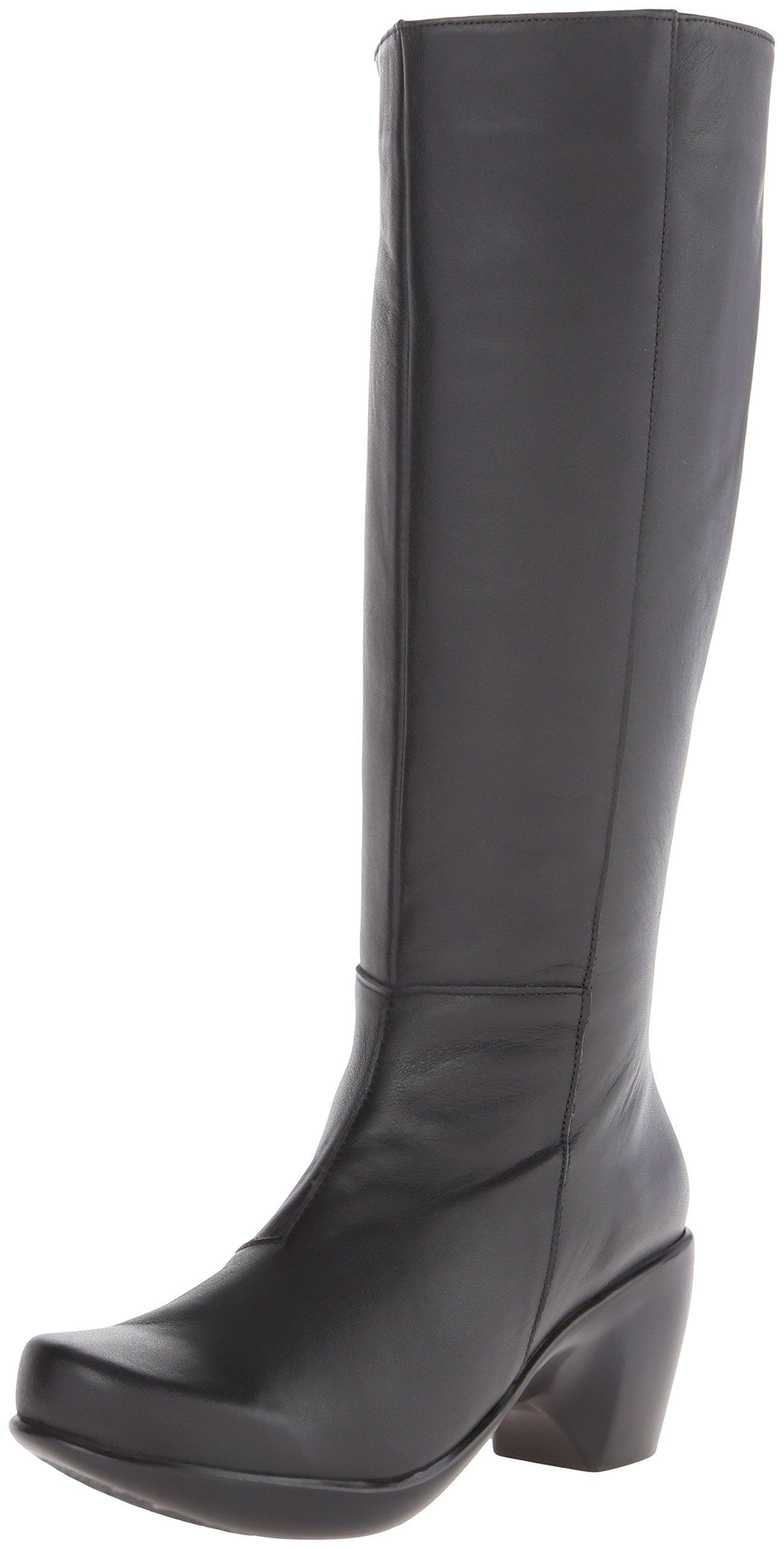 Naot Women's Divine Chelsea Boot, Jet Black Leather, 41 EU/10 M US