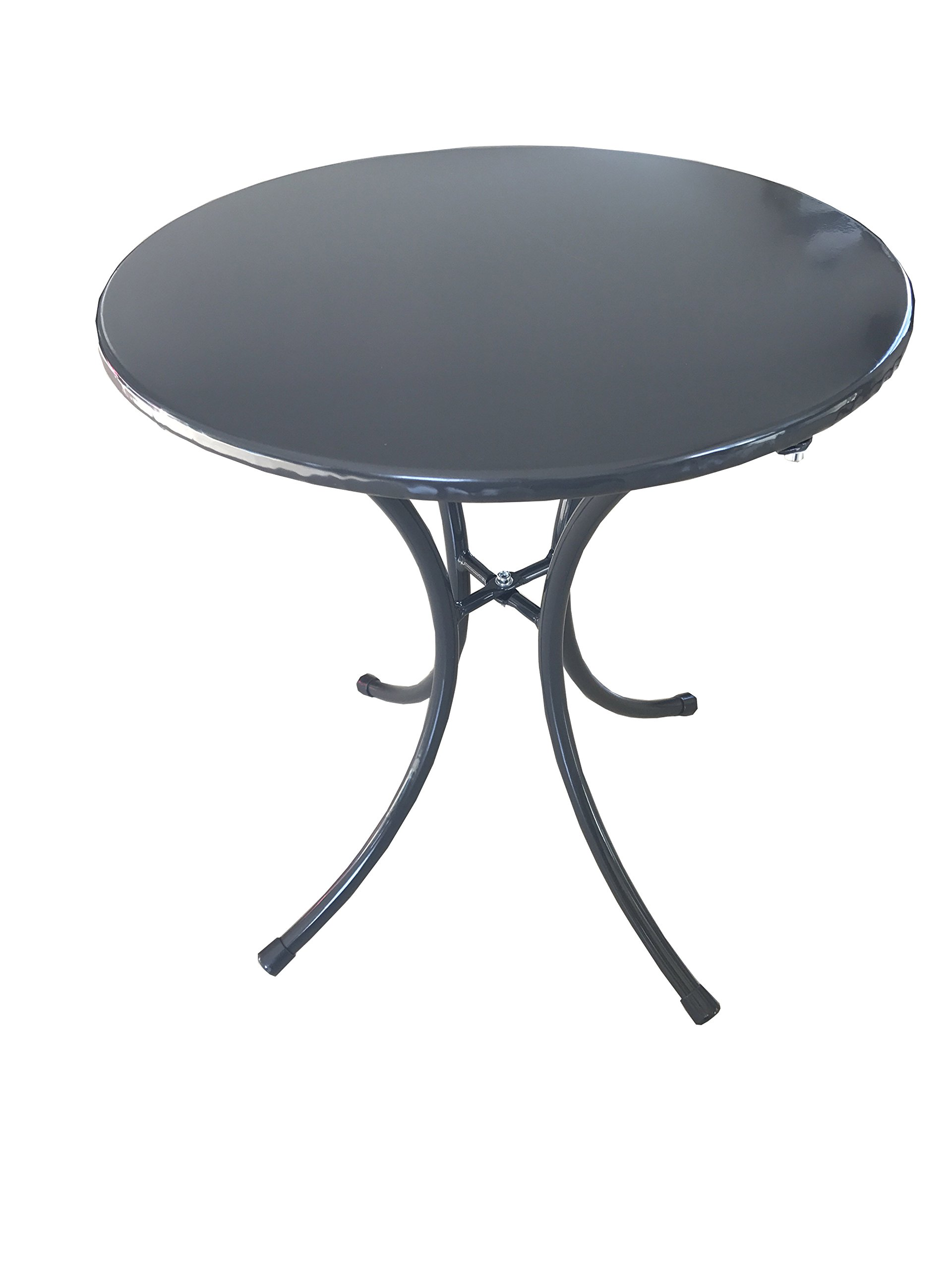 JDWD Small Round Side End Table, Sofa Table, UV-Protection Coffee Table, KD Tea Table, Gray