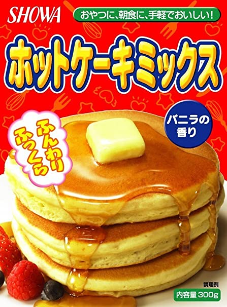 Showa Harina Hot Cake Mix, Preparada para Tortitas - 4 Paquetes de 300 gr -