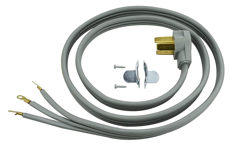 Prime RD628106L 3-Pole 3-Wire SRDT 50A 125/250-Volt Range Cord, Gray, 6-Feet