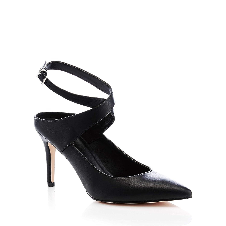 10b8bacef9b Faith Womens Black Matte 'Cross' Pointed Toe Stiletto Heel Shoes 6 ...