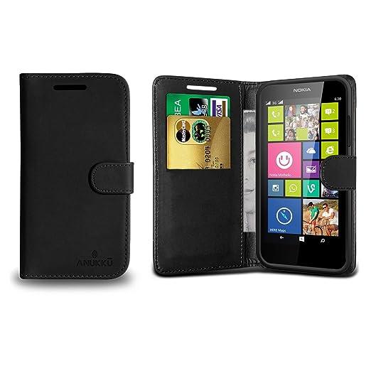 12 opinioni per Custodia Flip Cover Stand Portafoglio in Pelle Anukku® Per Nokia Lumia 630- 635