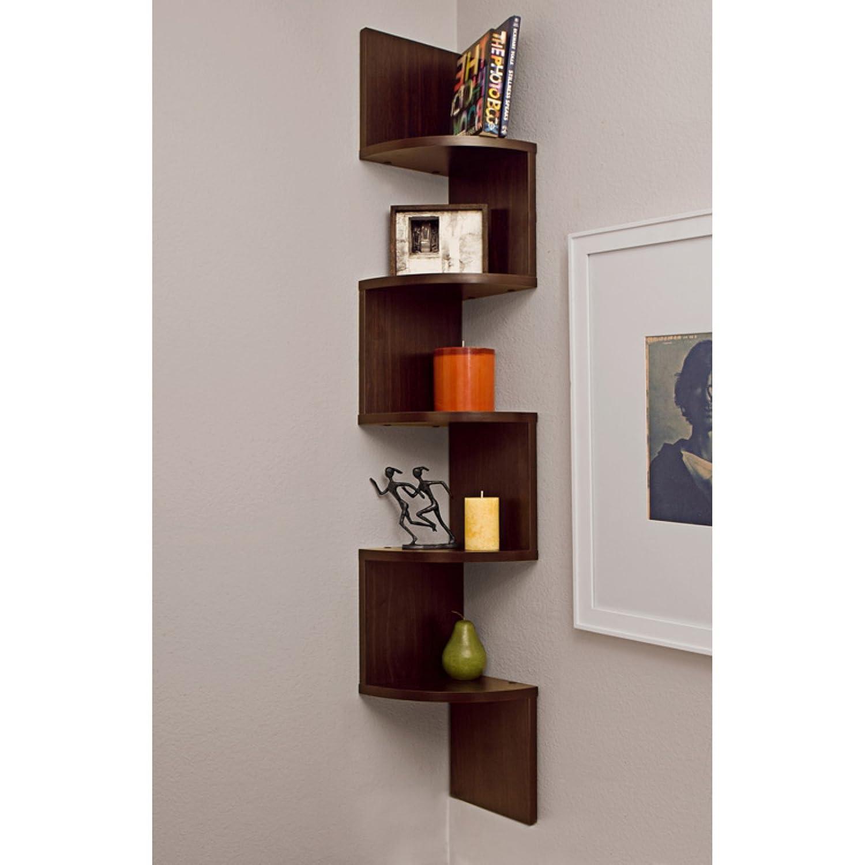 corner zig zag wall shelf finish white amazonca home  kitchen -