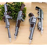 Glanzzeit Cool Replica Gun Ballpoint Pens with Magnets Novelty Ball Pens Set of 4 Pcs