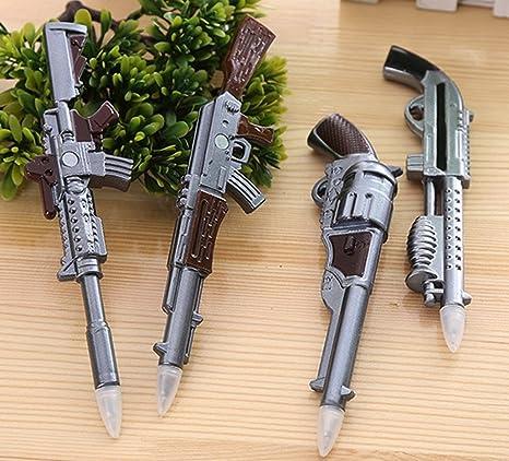 Glanzzeit 4 Stk. Gewehr Form Multifunktionaler Kugelschreiber mit Magneten Lustige Kühlschrankmagnete Set