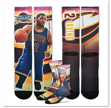 Bare Feet Cleveland Cavaliers centro corte tripulación calcetines hombres de mediana – Kyrie Irving # 2