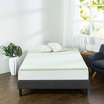 Zinus - Colchón de Espuma viscoelástica Verde, 5 cm, 1.5 Inch, Matrimonio Doble: Amazon.es: Hogar