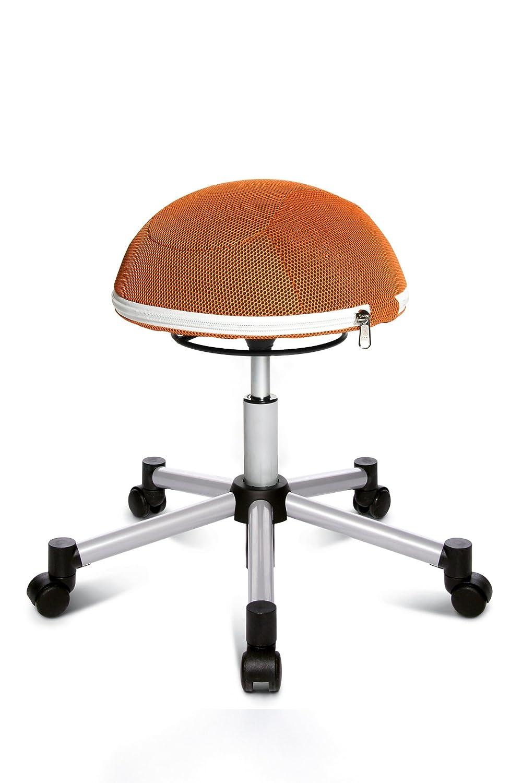 Bürostuhl ergonomisch ball  Topstar SH17BB4 Fitness-Hocker Sitness Half Ball /Stoffbezug ...