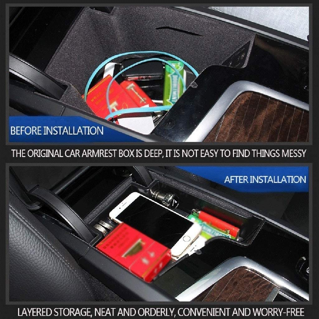 Color : Black Armrest Storage Box Suitable for Volvo 2017-2019 S90//2015-2019 Xc90 Modified Door Handle Storage Box 2019 Volvo Xc60 Armrest Box V90cc S60 V60 Plastic