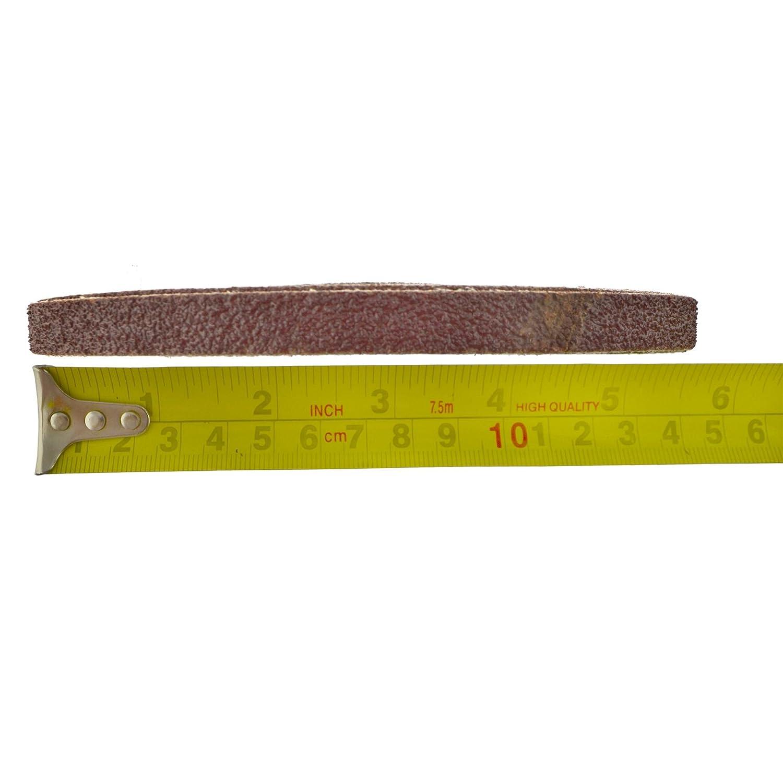 Belt Sander Fichier doigt abrasives abrasifs 330mm x 10mm grain 40 Lot 50