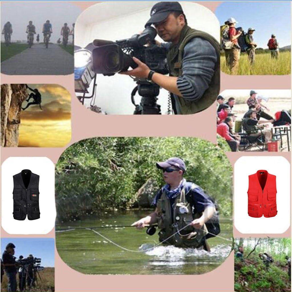 mit Rei/ßverschluss f/ür Radfahren Wandern MagiDeal Herren M/änner Jagd- und Anglerweste Arbeitsweste Angeln Bergsteigen Multitaschen Design Trekking Fotografieren.