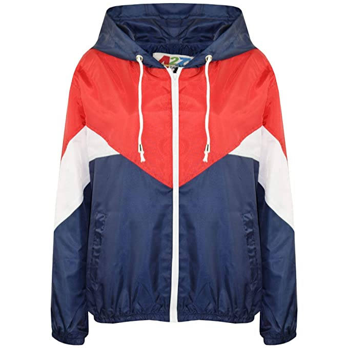 9a0971456 Amazon.com  Kids Girls Boys Windbreaker Contrast Color Block Navy ...