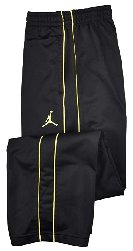 06020430cc1 Image Unavailable. Image not available for. Color: Jordan Boys' (8-20) Nike  Jumpman Basketball Pants-Black/Yellow