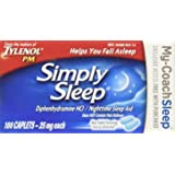 Tylenol Simply Sleep Nighttime Sleep Aid Caplets-100 count