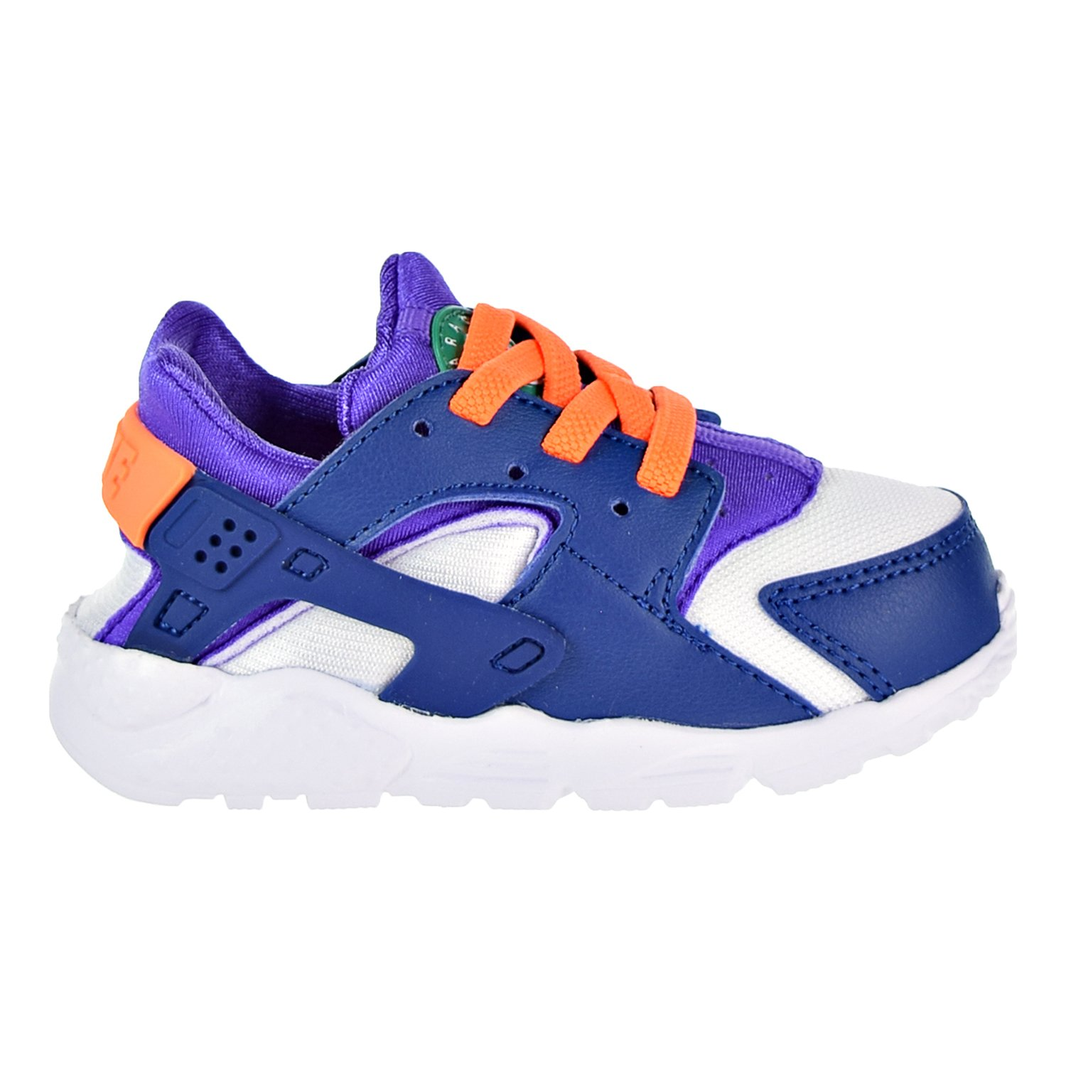 1d379651f213 Amazon.com  NIKE Huarache Run Todder s Shoes White Cone Gym Blue  704950-111  Shoes