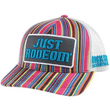 9dfa637c32011 Rock and Roll Cowboy Dale Brisby Men s Just Rodeoin  Cap Multi One Size Blue