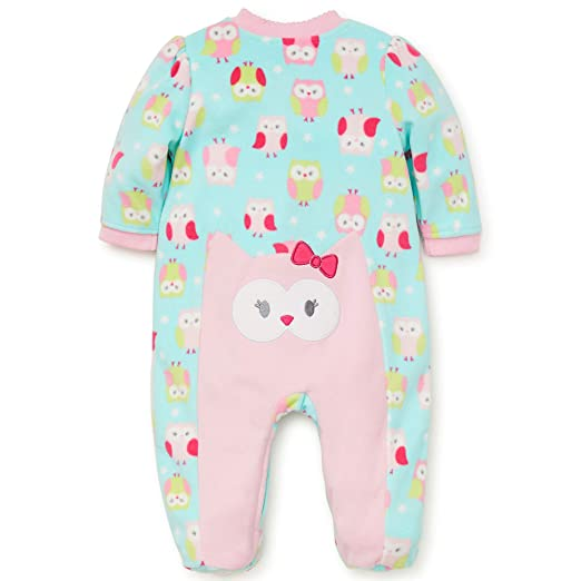 Amazon.com: Little Me Winter Fleece Baby Pajamas Footed Blanket Sleeper Footie Dalmatian Dog Pink 18 Month: Baby