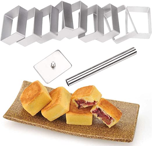 10x Pineapple Shape Cake Mold Pie Biscuit Cutter Pressing Tool Kitchen Baking US