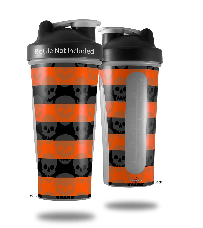 スカルストライプオレンジ – デカールスタイルスキンラップFits Blender Bottle 28oz (ボトルは含まれません B06WVGH9VW