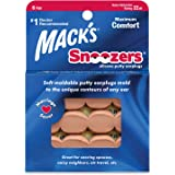 Mack's Snoozers Silicone Putty Earplugs - 6 Pair – Comfortable, Moldable Silicone Ear Plugs for Sleeping, Snoring, Loud Noise