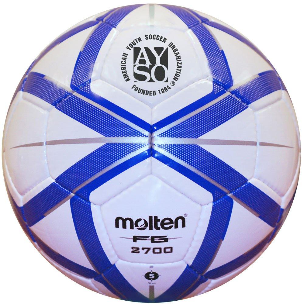 Amazon.: Molten AYSO FG Design Soccer Ball, Black/Silver, Size