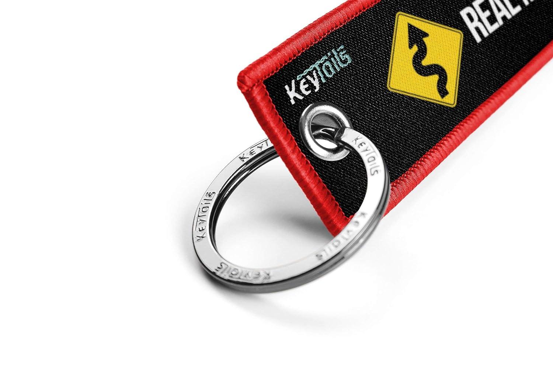 Premium Quality Key Tag for Motorcycle UTV Scooter Car ATV KEYTAILS Keychains Real Men Like Curves