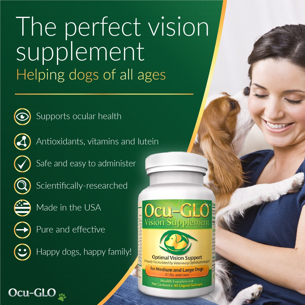 Ocu-GLO Vision Supplement for Small Dogs, Animal Necessity - Lutein, Omega-3 Fatty Acids, Grapeseed Extract Support Optimal Eye Health & Vision in Dogs - Antioxidants for Canine Ocular Health - 45ct by Ocu-GLO (Image #5)