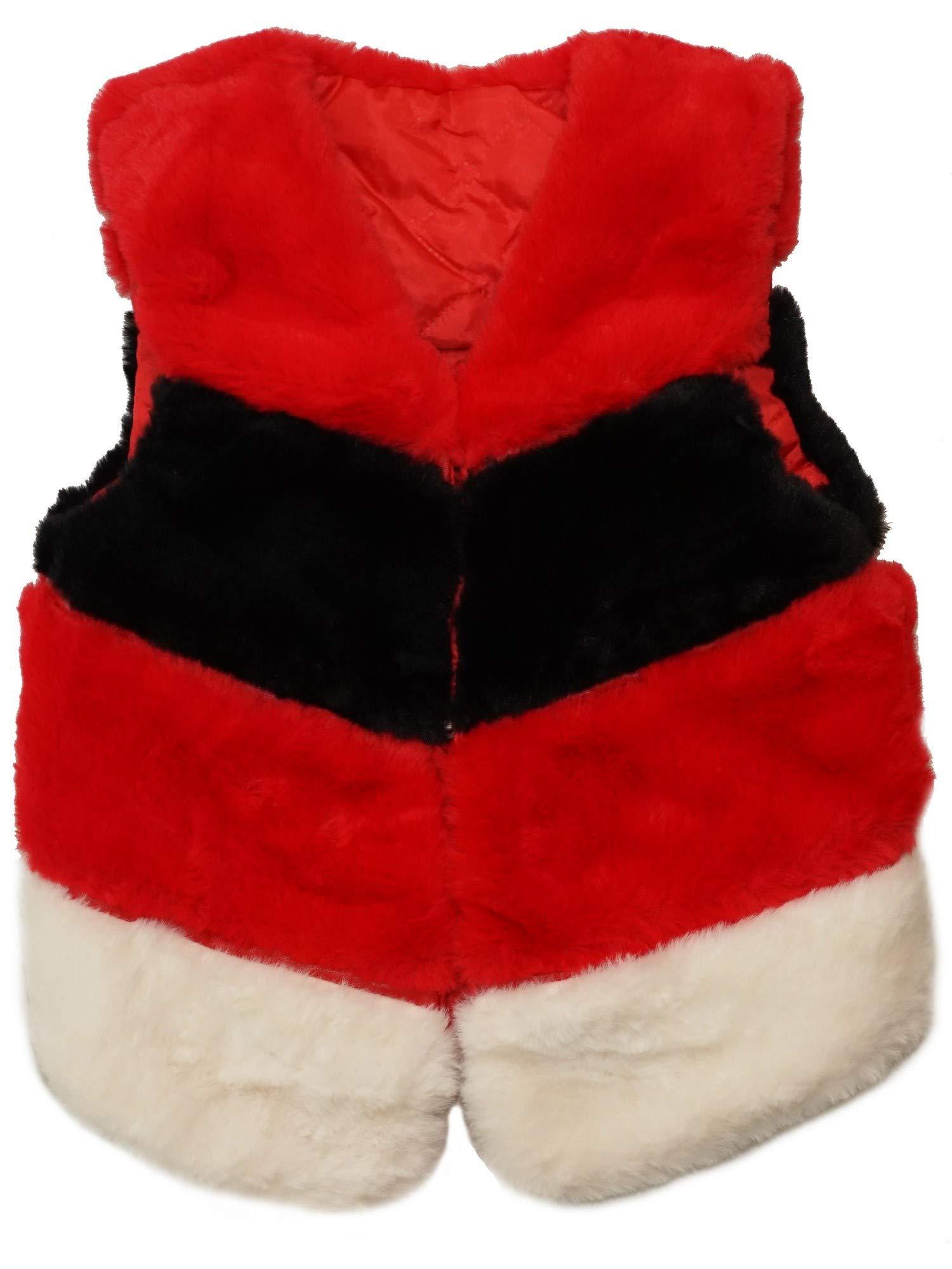 wenchoice Baby Girls Red Black White Panel Soft Plush Sleeveless Vest 9-24M by wenchoice
