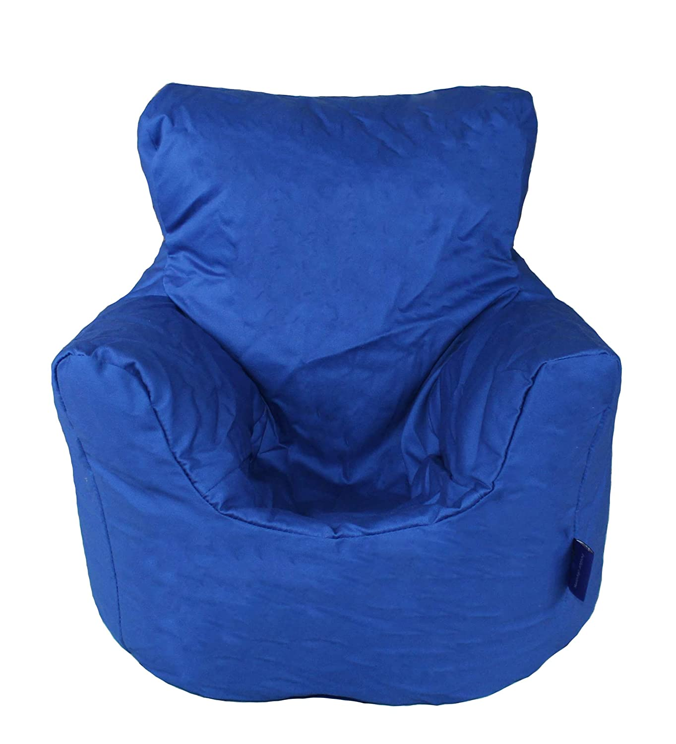 Childrens Bean Bag Chair In Two Sizes And Nine Colours 100% Cotton Twill (Black, Small 50x50x50cm) Better Dreams