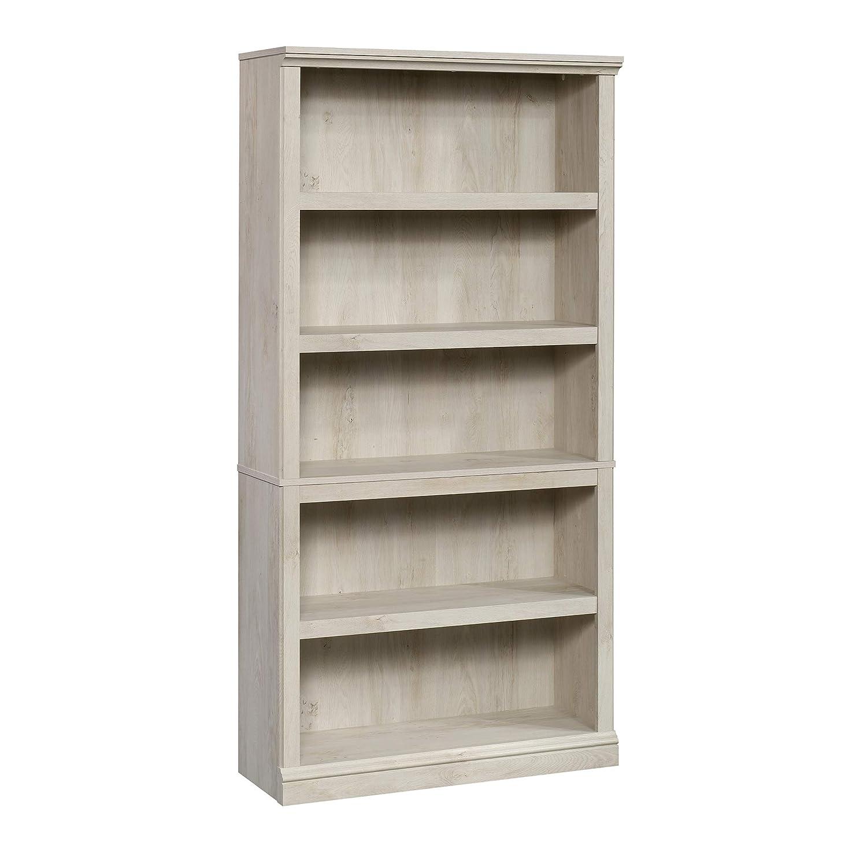 Sauder 5 Shelf Bookcase, Chalked Chestnut finish