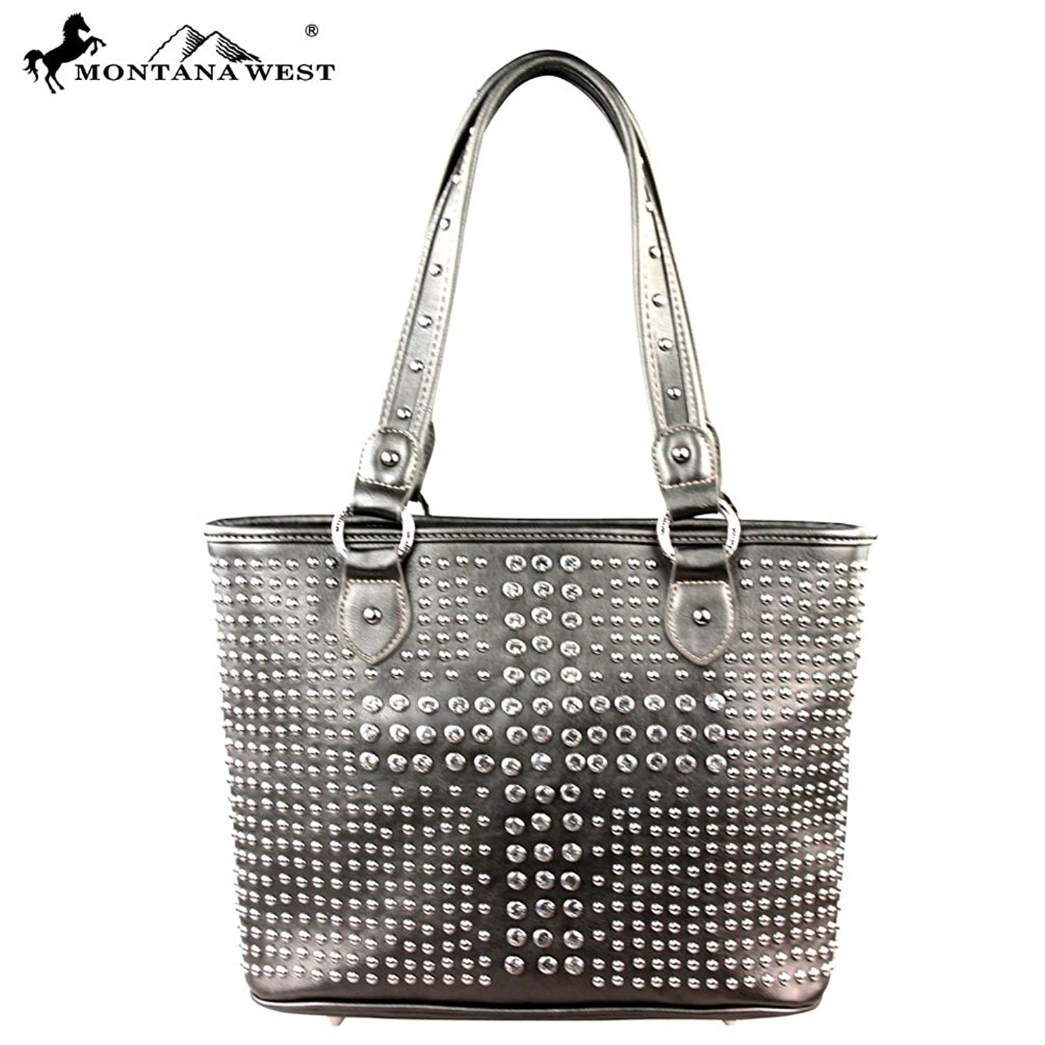 Montana West Bling Bling Collection Handbag Purse Pewter Mw222-8014