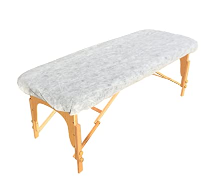 Golden Coast Unlimited Pack Of 25 Disposable Fitted Massage Table Sheets    Heavy Duty White Elastic