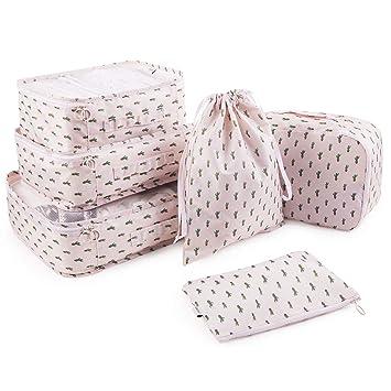 Amazon.com: 2018 nuevo Pack de 6 cubos de embalaje equipaje ...