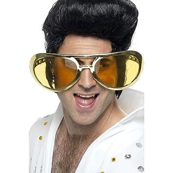 Jumbo 70er Jahre Gold Elvis Brille D4blWFK