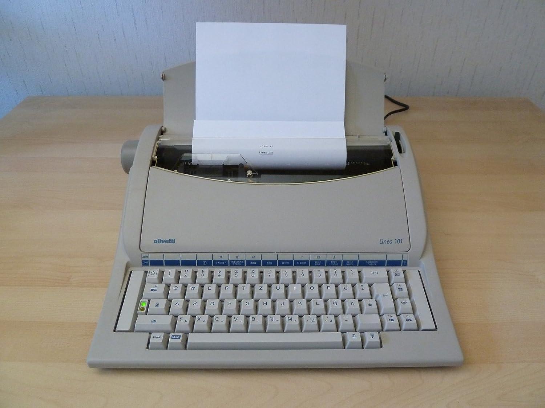 Olivetti Linea 101 - Máquina de escribir eléctrica con rueda de tipo, color negro