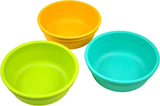 product image for Re-Play Made in USA 3pk 12 oz. Bowls in Lime Green, Sunny Yellow and Aqua | Made from Eco Friendly Heavyweight Recycled Milk Jugs and Polypropylene - Virtually Indestructible (Aqua Asst)