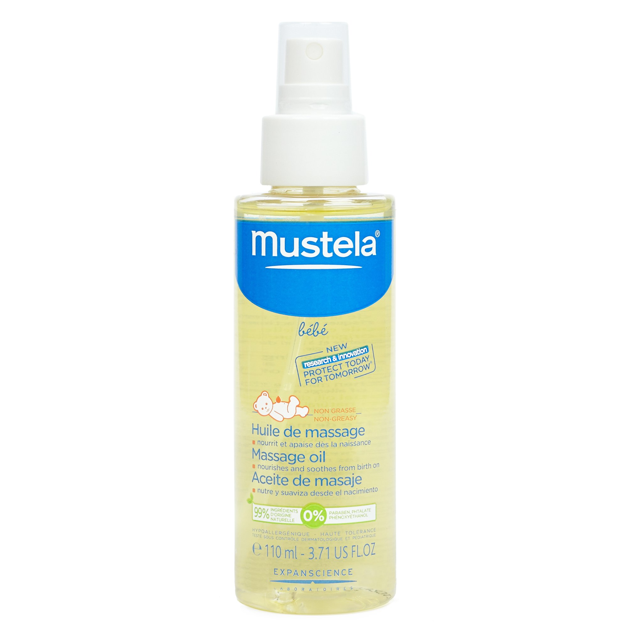 Mustela Baby Oil, Moisturizing Oil for Baby Massage, Natural Avocado Oil, Pomegranate & Sunflower Seed Oil