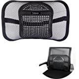 Lumbar Back Support For Car Office Chair, Yoheox Breathable Mesh Lumbar Support Cushion With Adjustable Strap Perfect For Back Pain Relief
