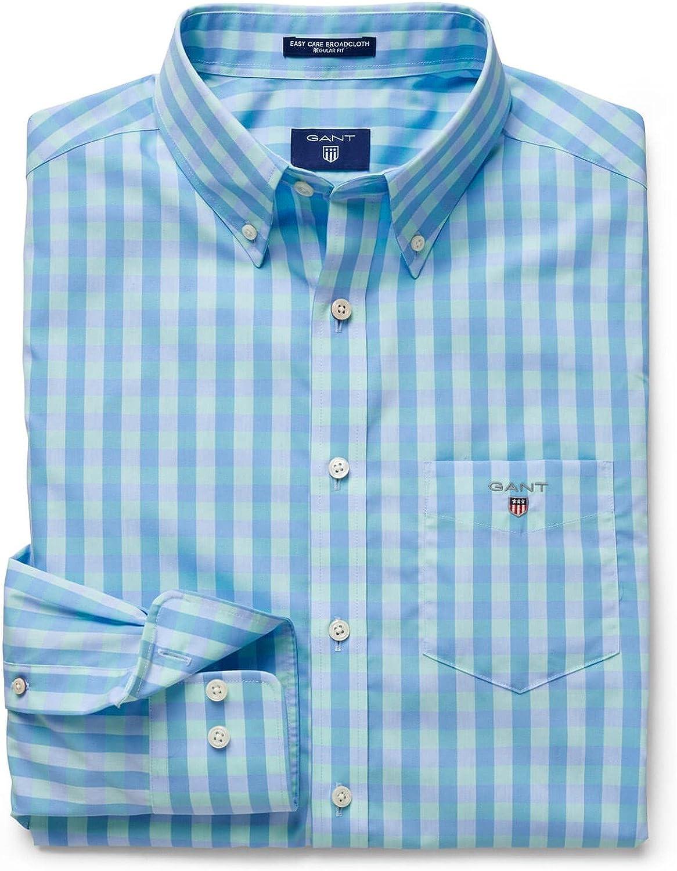 Gant Camisa Cuadros Verdes XL: Amazon.es: Ropa y accesorios