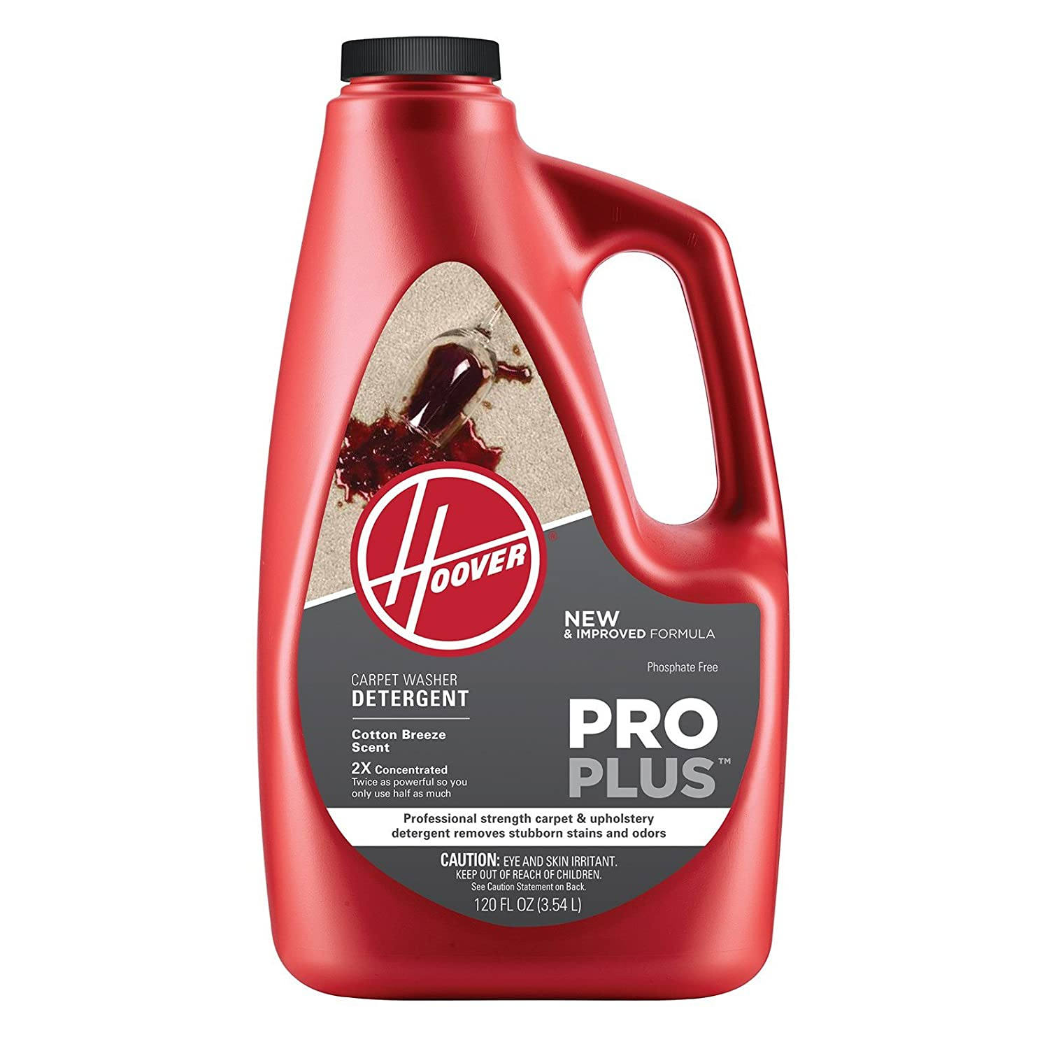 Hoover AH30051NF Carpet Cleaner and Upholstery Detergent Solution, ProPlus Professional Strength Formula, 120 oz