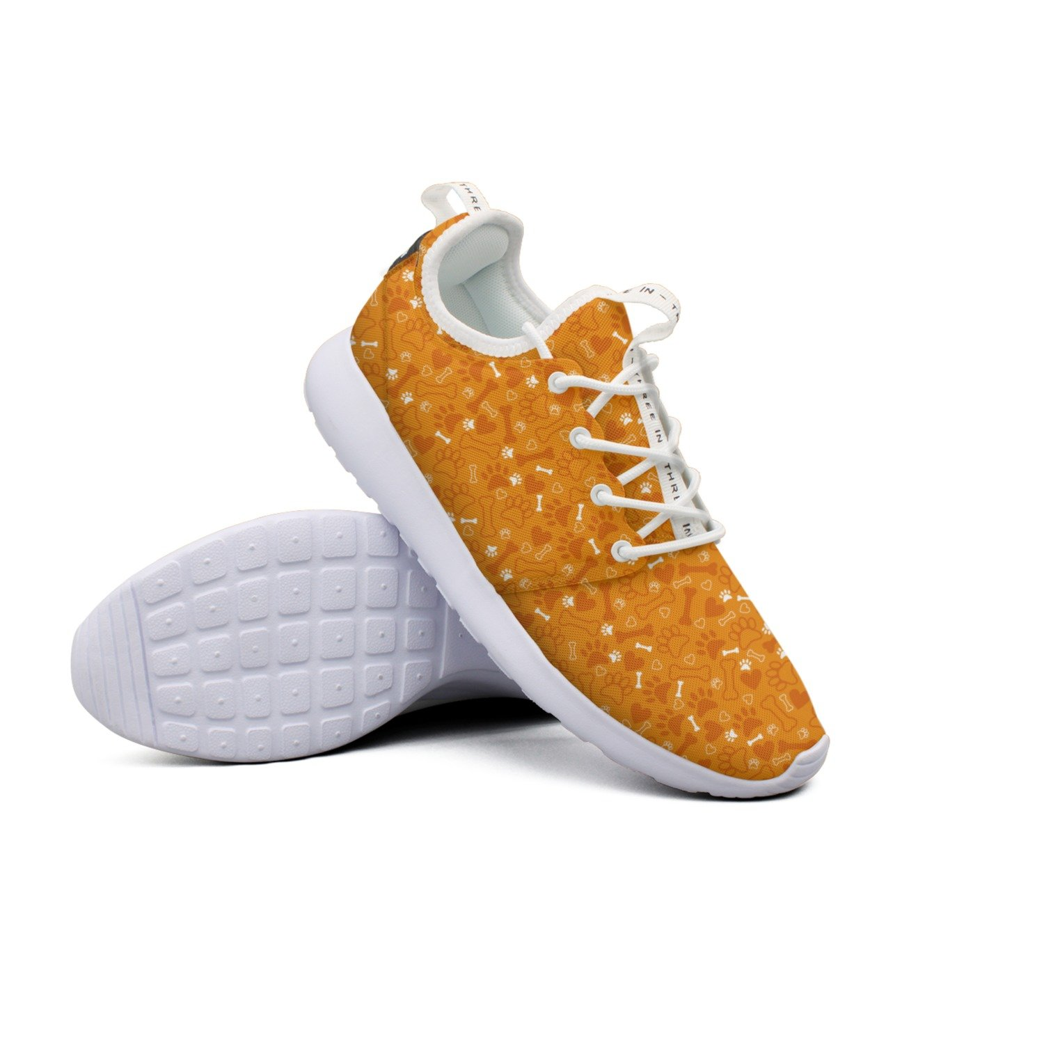 FUFGT Dog Paw Print Women Net Casual Running Shoes Unique Gift