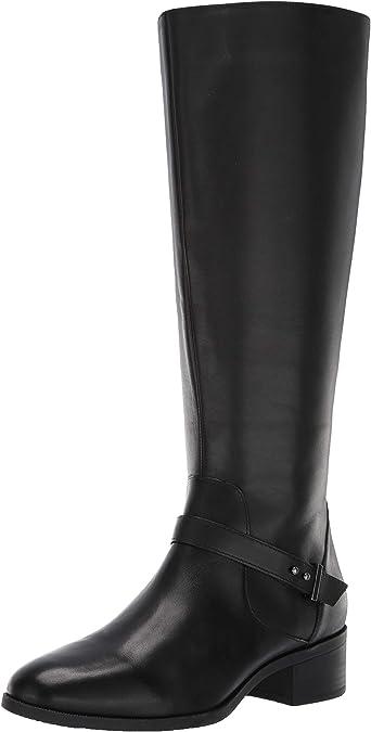 Bandolino Demelza Womens Black Leather Fashion Mid-Calf Boots 6 M W