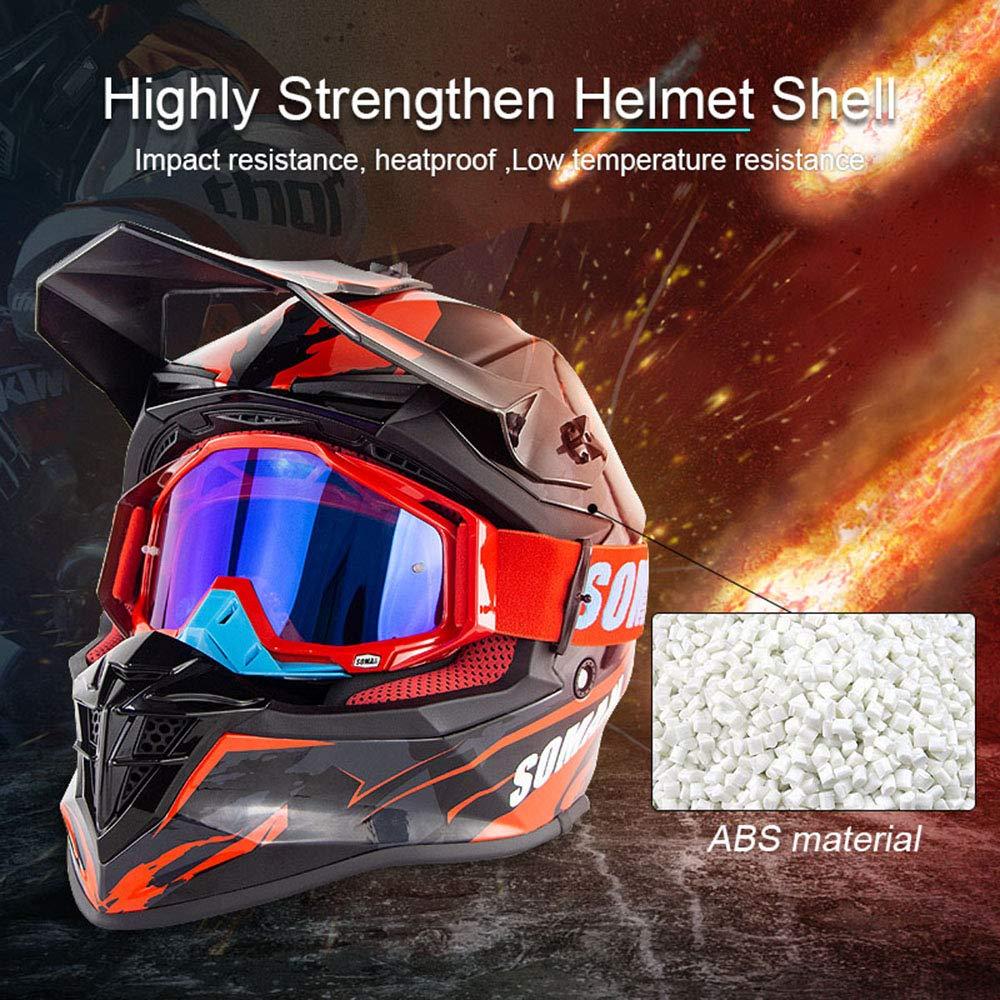 ADV SOMAN Helm Offroad Motorrad Motocross Helm Dirt Bike ATV ECE Zertifiziert UTV