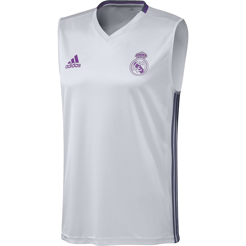 adidas Real Madrid CF TRG JSY SL Camiseta, Hombre, Blanco/Morado ...