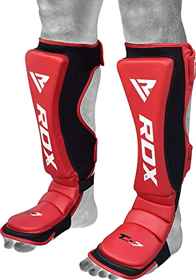 VELO Shin Instep Pads Neoprene Kick Boxing MMA Foot Guards Muay Thai Protector