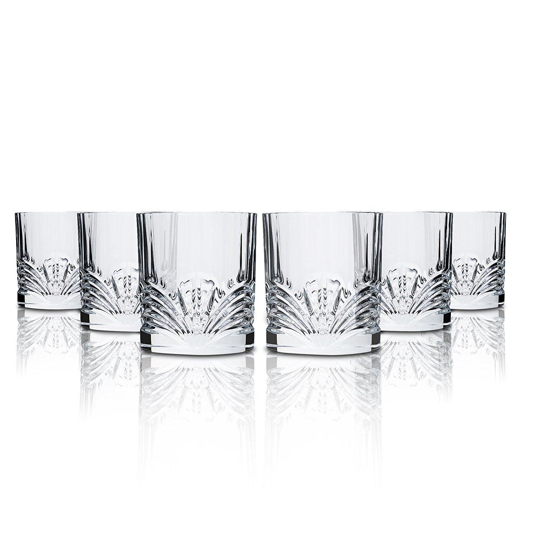Rcr Aurea Water Glasses, Glass, Transparent, Set 6 Pieces, 28 cl 1081328 23812020006_-