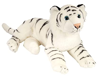 Amazon Com Wild Republic White Tiger Plush Large Stuffed Animal