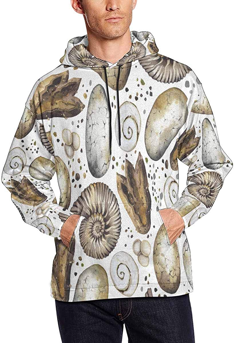 INTERESTPRINT Mens Long Sleeve Hoodie Hooded Sweatshirt Tops Jacket Outwear
