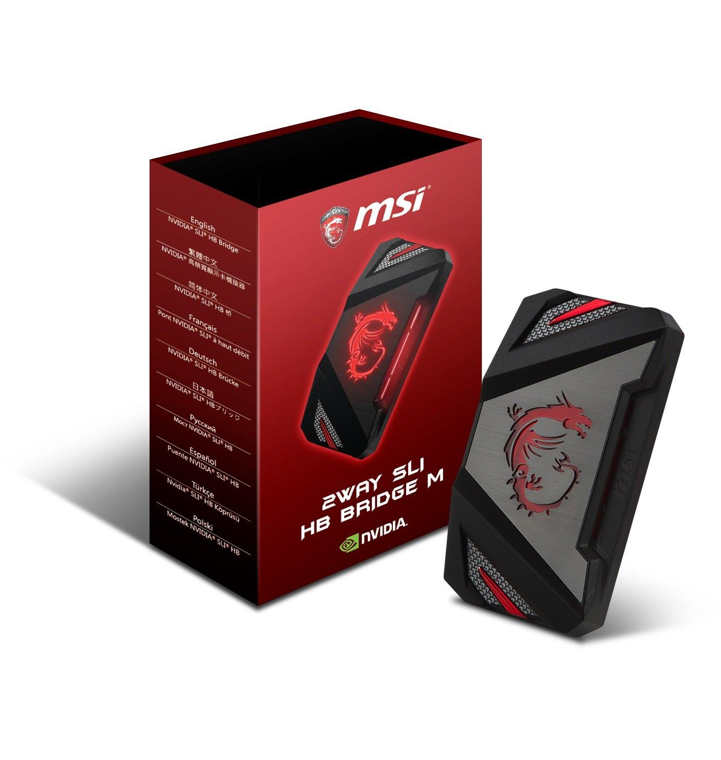 MSI GAMING 5K Video 60mm 2 Way SLI Bridge for GTX 1080 1070 Series Graphics Card (2WAY SLI HB BRIDGE M)